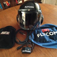 FlyCom Black Helmet with Visor FH1-V (NOW SOLD)