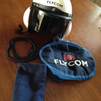 FlyCom White Helmet with Visor FH1-V (NOW SOLD)